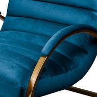 Image 3 - Navy And Brass Ribbed Ark Chair