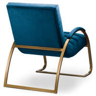 Image 4 - Navy And Brass Ribbed Ark Chair