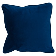 Navy Velvet Cushion 45X45Cm