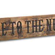 Image 2 - Nut House Rustic Wooden Message Plaque