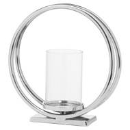 Image 1 - Ohlson Silver Large Twin loop Candle Holder