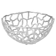 Image 1 - Ohlson Silver Perforated Coral inspired Bowl Large