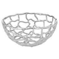 Image 1 - Ohlson Silver Perforated Coral Inspired Bowl Small