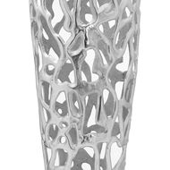 Image 2 - Ohlson Silver Perforated Coral Inspired Vase