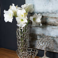 Image 3 - Ohlson Silver Perforated Coral Inspired Vase