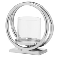 Image 1 - Ohlson Silver Twin loop Candle Holder