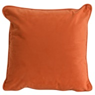 Orange Velvet Cushion 45 x 45cm