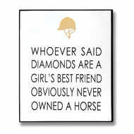 Image 1 - Owned A Horse Gold Foil Plaque