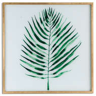Image 1 - Palm Glass Image In Gold Frame