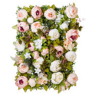 Image 1 - Artificial Peony Flower Wall