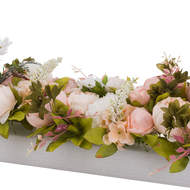 Image 2 - Artificial Peony Table Runner