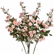 Image 4 - Pink Artificial Wild Meadow Rose 74cm