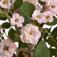 Image 6 - Pink Artificial Wild Meadow Rose 74cm
