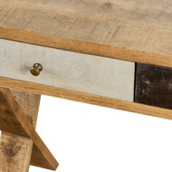 Image 2 - Reclaimed Industrial Console With Cross Leg