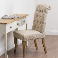 Image 7 - Roll Top Dining Chair With Ring Pull
