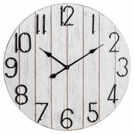 Rustic Retro Plank Design Wall Clock