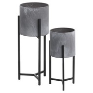 Image 1 - Set Of Two Concrete Effect Table Top Planter