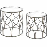 Image 1 - Set Of Two Lattice Detail Silver Side Table