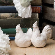 Image 3 - Set of Two Salt and Pepper Hens