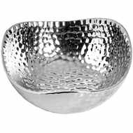Image 2 - Silver Ceramic Dimple Effect Display Bowl - Small