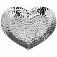 Image 2 - Silver Ceramic Dimple Effect Large Heart