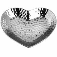 Image 2 - Silver Ceramic Dimple Effect Small Heart