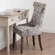 Image 8 - Silver High Wing Ring Backed Dining Chair