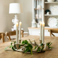 Image 4 - Silver Nickel Circular Antler Candelabra With Four Candle Ho
