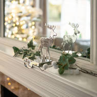 Image 2 - Silver Stag Stocking Holder
