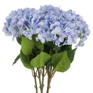 Image 1 - Single Artificial Blue Hydrangea 70cm