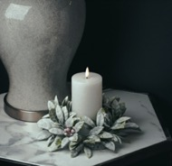 Image 3 - Small Frosted Candle Wreath