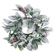 Image 1 - Small Frosted Candle Wreath