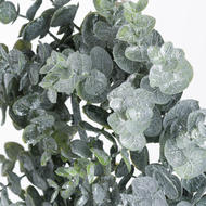 Image 2 - Small Frosted Eucalyptus Candle Wreath