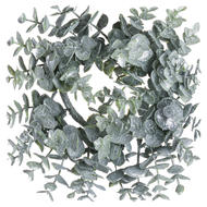 Image 1 - Small Frosted Eucalyptus Candle Wreath