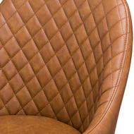 Image 2 - Stockholme Chequered Tan Dining Chair
