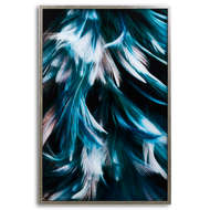 Image 1 - Teal Feather Glass Image In Silver Frame