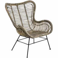 Image 3 - The Bali Collection Full Rattan Wing Chair