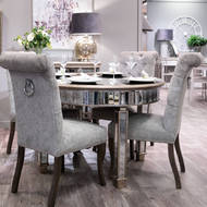 Image 3 - The Belfry Collection Grand Mirrored Dining Table