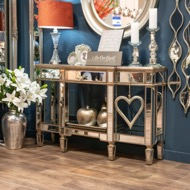 Image 4 - The Belfry Collection Mirrored Display Console