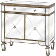 Image 1 - The Belfry Collection One Drawer Two Door Mirrored Cupboard