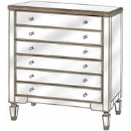 The Belfry Collection Six Drawer Mirrored Chest