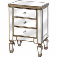 Image 1 - The Belfry Collection Three Drawer Mirrored Bedside