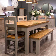 Image 2 - The Byland Collection 2 Drawer Dining Table