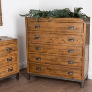 Image 6 - The Draftsman Collection Five Drawer Chest