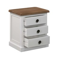 Image 2 - The Hampton Collection Three Drawer Bedside