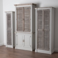Image 4 - The Liberty Collection Tall Cabinet With Louvered Doors