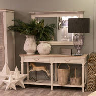 Image 3 - The Liberty Collection Two Drawer Hall Table With Shelf