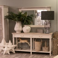 Image 4 - The Liberty Collection Two Drawer Hall Table With Shelf