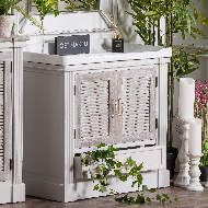Image 6 - The Liberty Collection Vanity Sink Unit With Louvered Doors