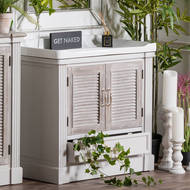 Image 7 - The Liberty Collection Vanity Sink Unit With Louvered Doors